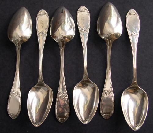 Set of 6 Coin Dessert/ Soup  Spoons