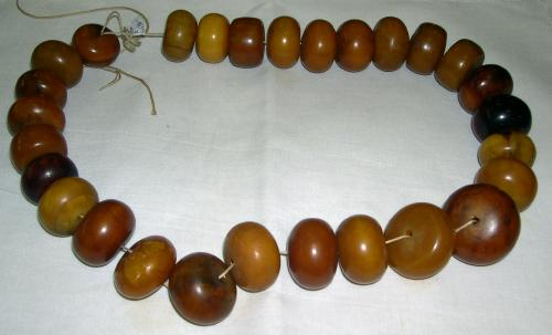 String of Amber Beads
