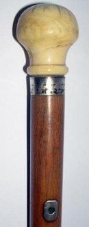 Ivory top lignum vitae stick