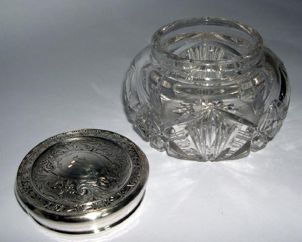 Sterling Top Dresser Jar