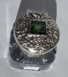 Sterling Top Glass Inkwell