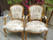 French Provincial style Beachwood Chairs