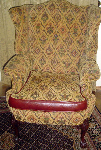 Mahogany Wing Chair