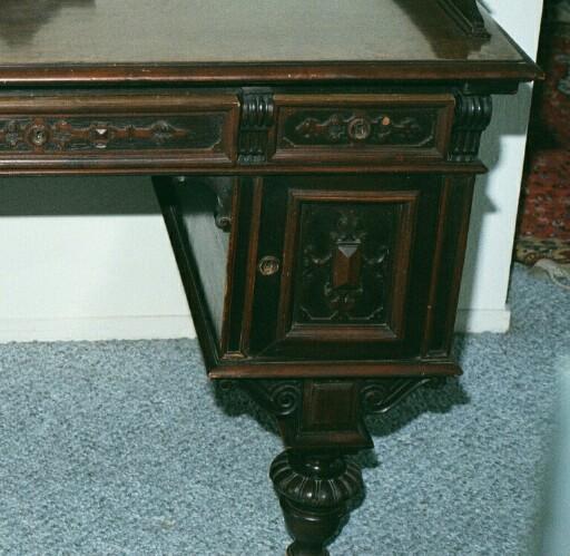 Baroque Mahogany Desk