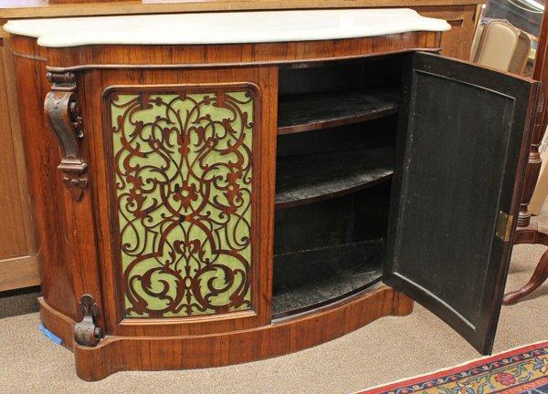 Rococo Revival rosewood buffet