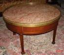 Louis XVI Style Round Marble Top Mahogany