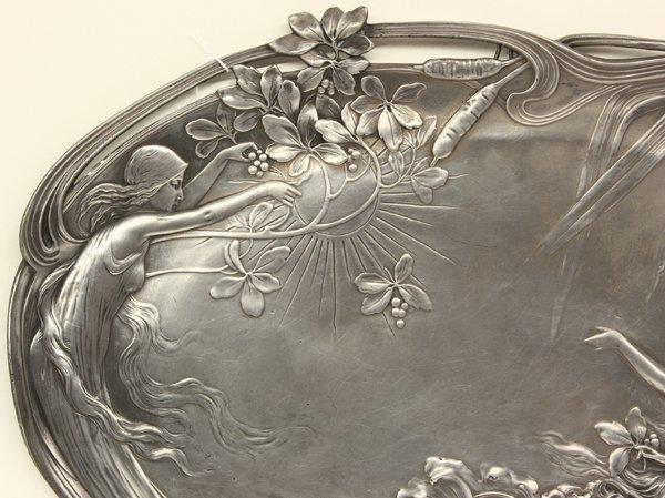 Art Nouveau silvered tray, WMF