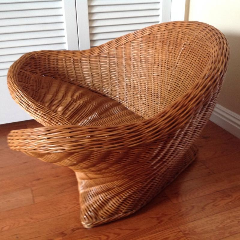 Mid Century Wicker Chair