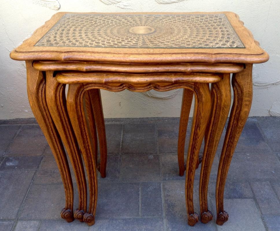 Antique Oak Nesting Tables