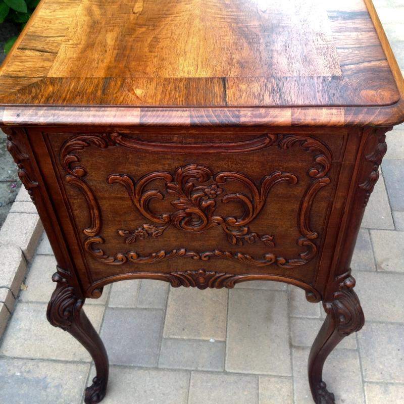 Louis XV Provincial Oak Desk