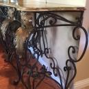 Louis XV style wrought iron console table