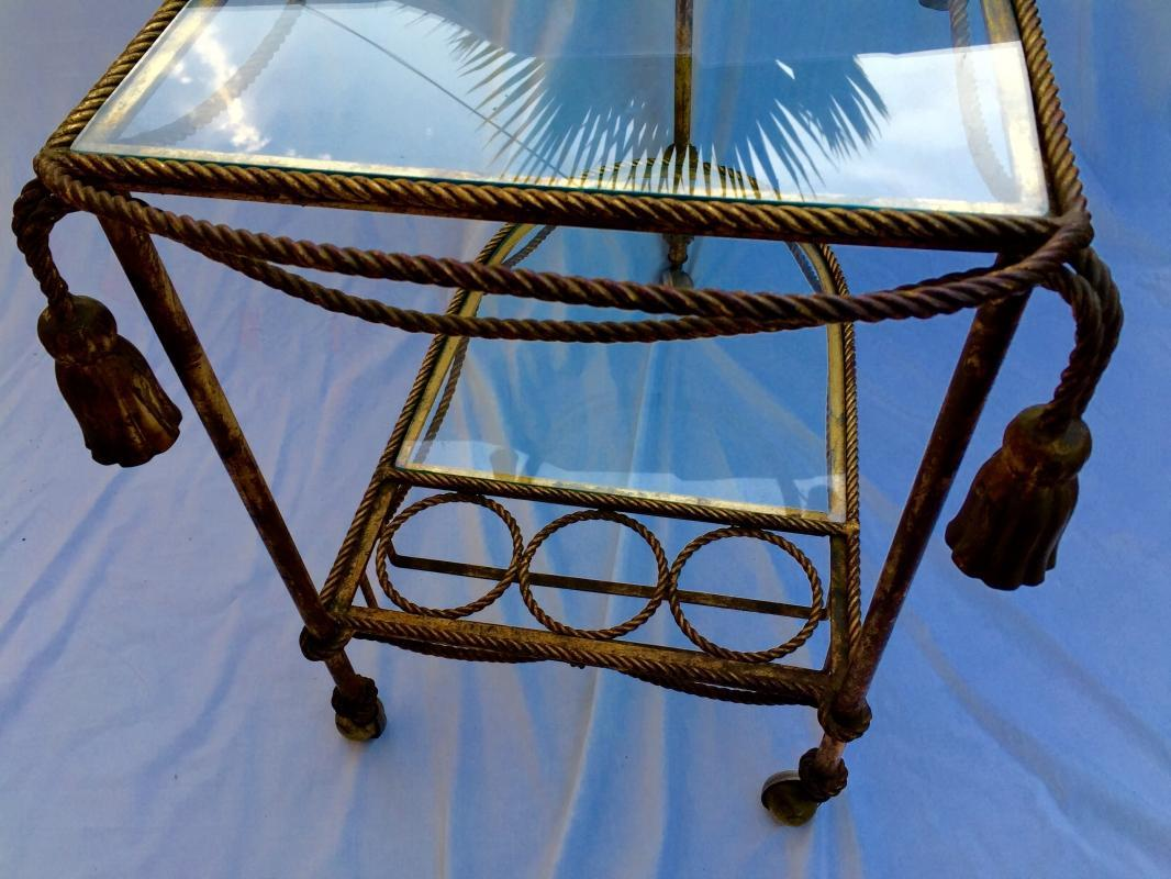 Hollywood Regency vintage Italian Bar Cart