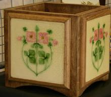 Art Nouveau Tile Planter