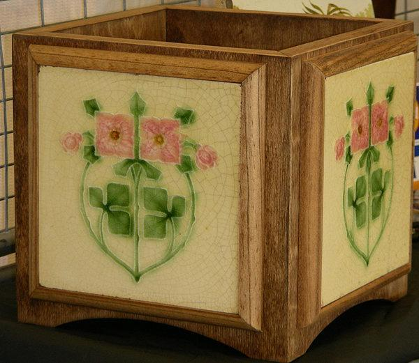Art Nouveau Tile Planter