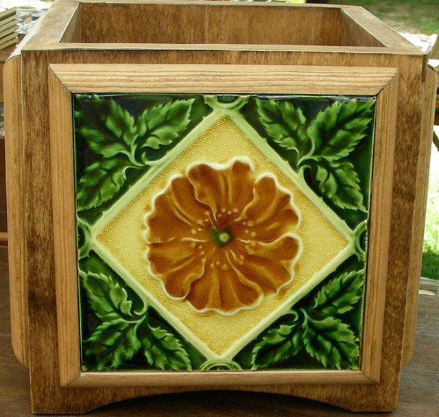 English Tile Planter Arts & Crafts