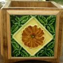 English Tile Planter Arts & Crafts