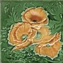 English Majolica Tile Floral
