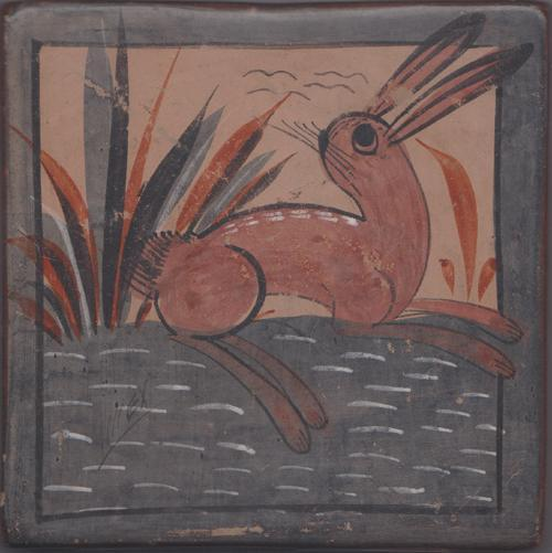 Mexican tonala Tile with Bunny