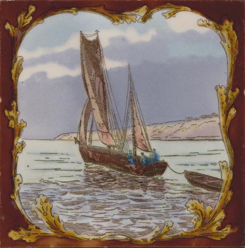 Longwy Boat Tile 8