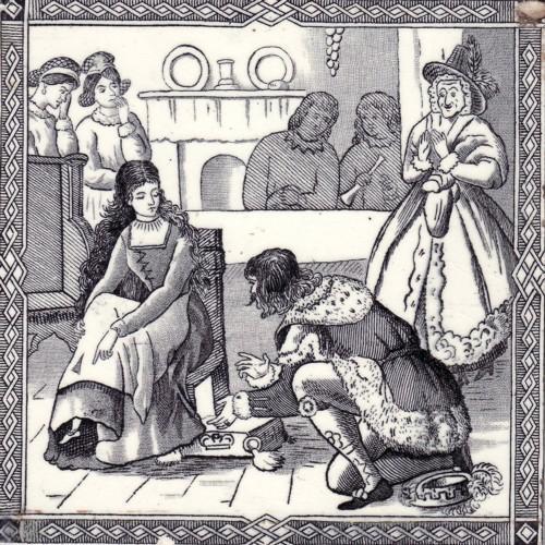 English Transfer Tile Cinderella
