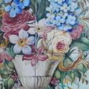 Italian tile Mural in Oak Frame