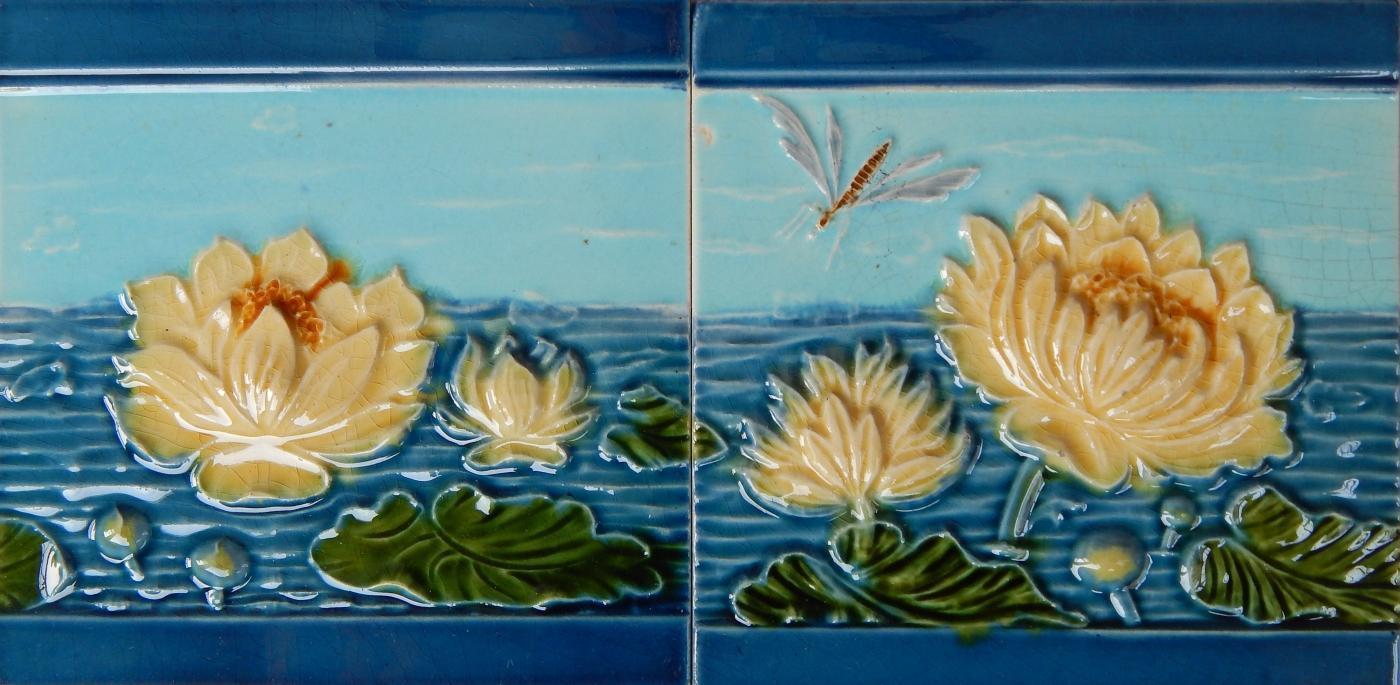 German Water Lily Tiles