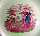 plate pink luster
