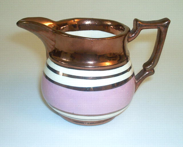 Copper Luster China pitcher