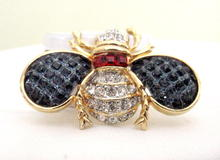 Ken Lane rhinestone signed insect pin
