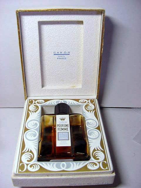 Caron perfume bottle with box.