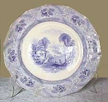 Staffordshire Blue Scenic Plate.