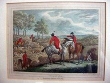 Pair of Howitt Fox Hunting prints, 1812.