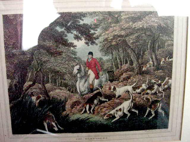 Pair of Howitt Fox Hunting prints, 1812.