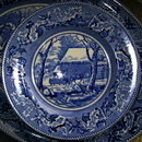 JOHNSON Brothers Thanksgiving FROZEN UP Dinner Plates - BLUE -