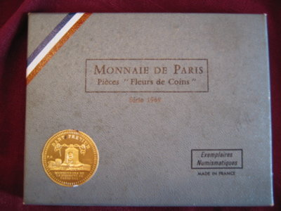 MONNAIE de Paris FLEURS de Coins 1969 French PROOF Set