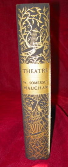 THEATRE Somerset Maugham Hardcover First Printing 1937