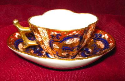 Hokutosha Miniature Imari Cup & Saucer Occupied Japan