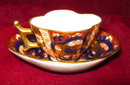 Hokutosha Miniature Imari Cup & Saucer Occupied Japan