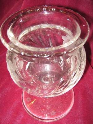 HAWKES Iris Footed Vase - ANTIQUE -