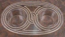 R Lalique SAINT GALL Cruet Holder - SIGNED -
