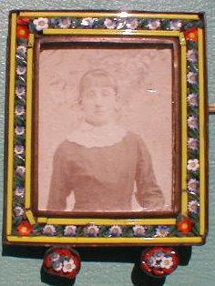 Italian Micro Mosaic, Antique  Miniature Frame