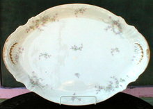 HAVILAND Limoges PLATTER Roses Large -ANTIQUE-