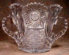 CUT Glass ICE Bucket 2 Handle, ABCG -ANTIQUE-