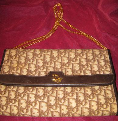 Christian Dior Clutch Bag - DIOR Logo Print -