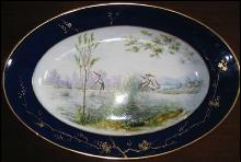 European Hand Painted Scenic Platter - ANTIQUE -