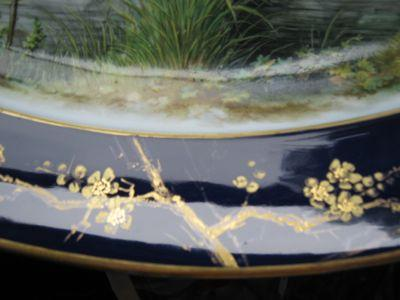 European Hand Painted Scenic Platter - ANTIQUE -