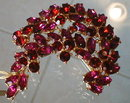 TRIFARI Colored RHINESTONE Pin - VINTAGE -