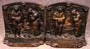 ANGELUS Bronzed Bookends - Millet - ANTIQUE