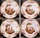 FRENCH Scenic CHARGERS K&G HP Plates ANTIQUE