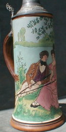 Sgraffito Etched STEIN Art Nouveau Signed RD